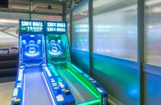 Photo of two skee ball games