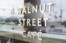 Sign outside of Walnut St. Café