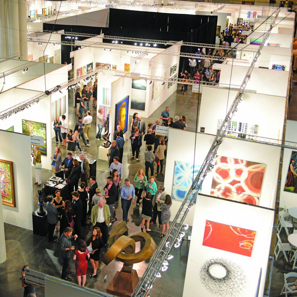 View of fine art vendors at 23rd Street Armory