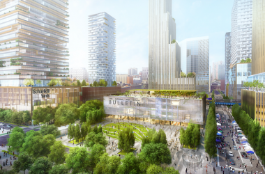 Rendering of the Bulletin Building in Schuylkill Yards